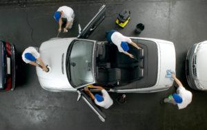 Fahrzeugreinigung im Autohaus Keglovits